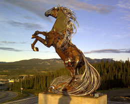 the metal horse of whitehorse is in place.