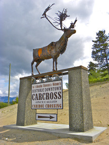 """Sign for Carcross - Caribou"""